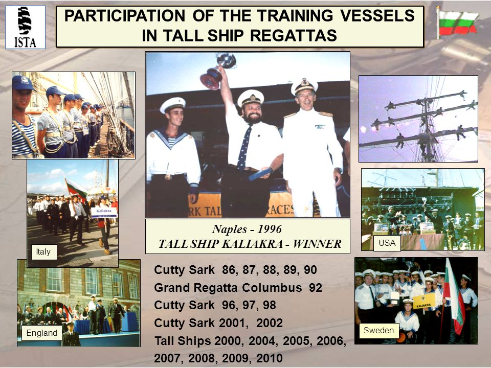 PARTICIPATION OF THE TRAINING VESSELS IN TALL SHIP REGATTAS