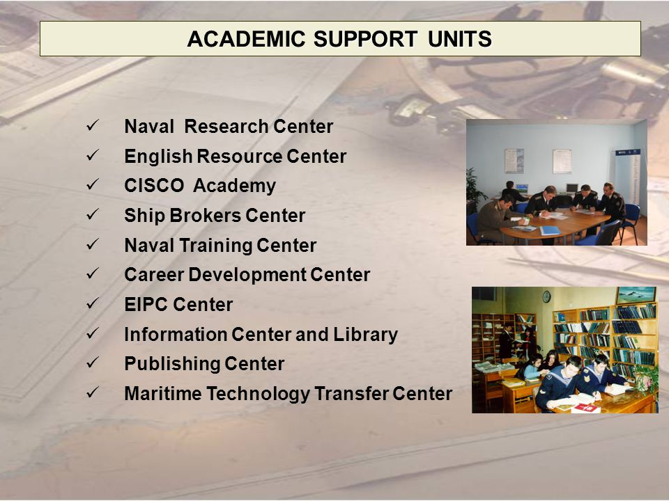 ACADEMIC SUPPORT UNITS