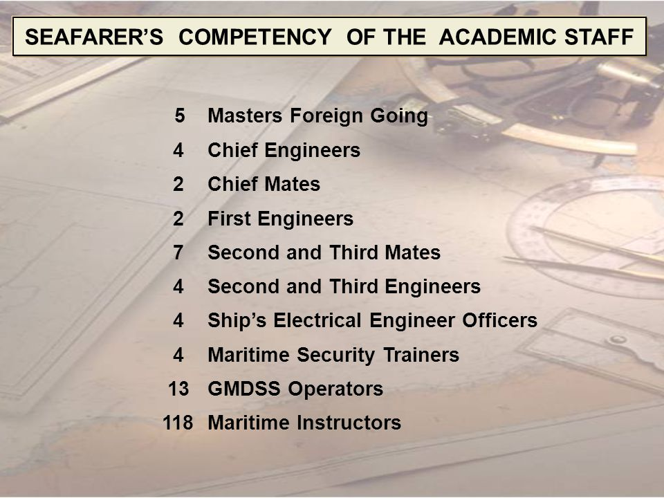 SEAFARER'S COMPETENCY OF THE ACADEMIC STAFF