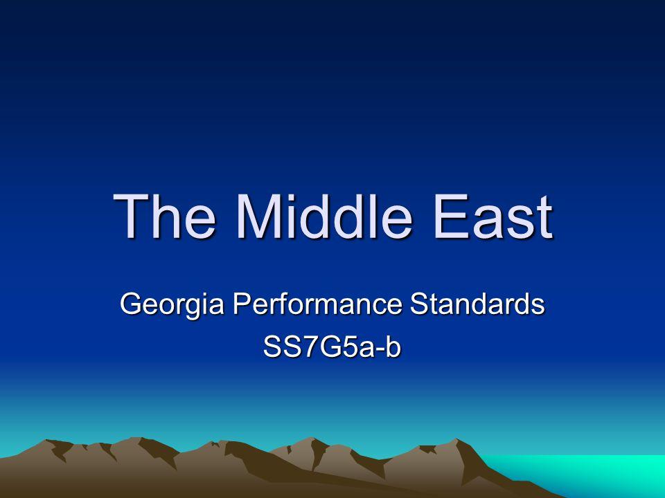 Georgia Performance Standards SS7G5a-b