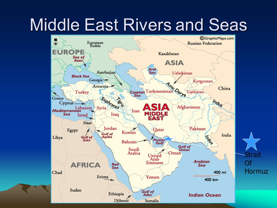 Middle East Rivers and Seas