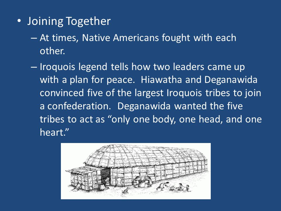 Joining Together At times, Native Americans fought with each other.
