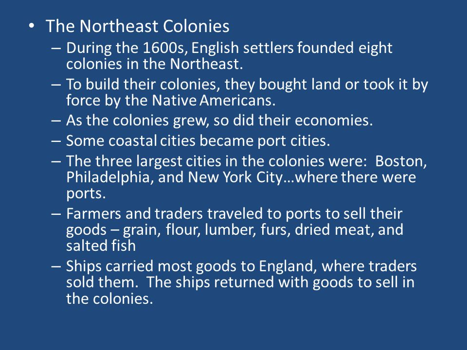 The Northeast Colonies