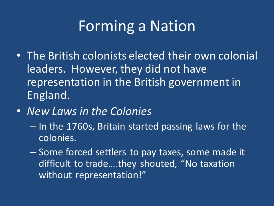 Forming a Nation
