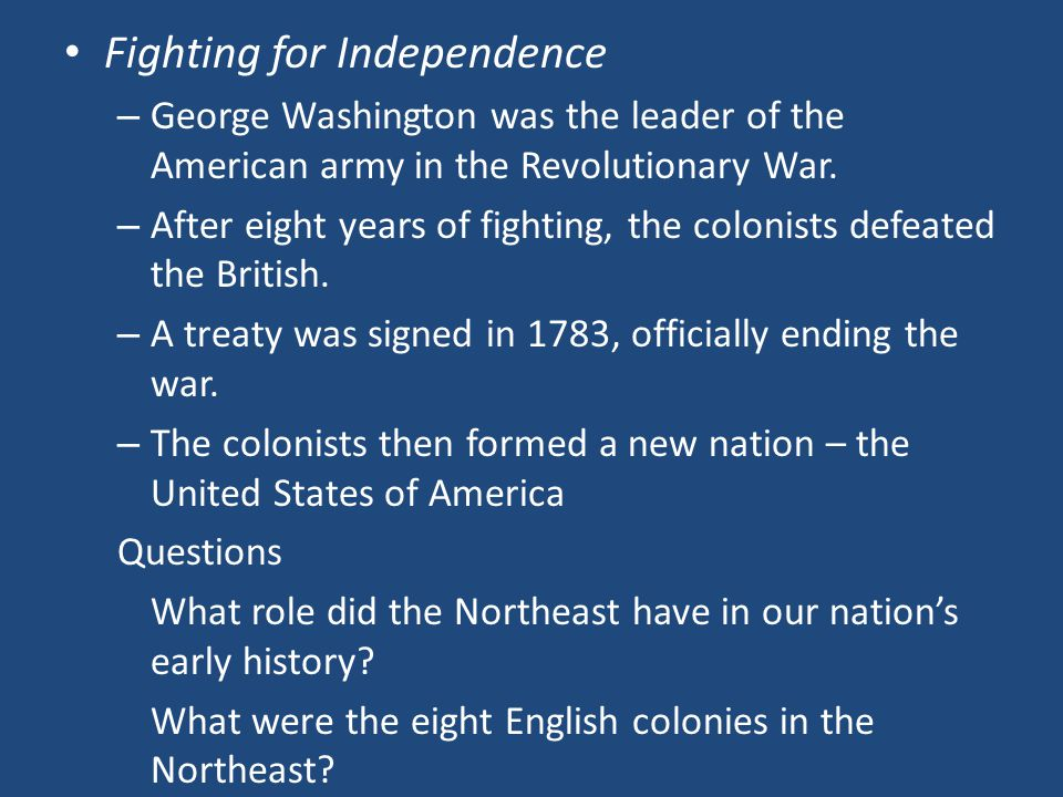 Fighting for Independence