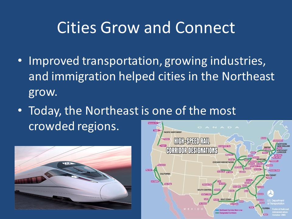 Cities Grow and Connect