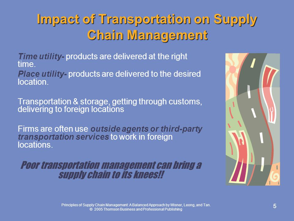 Impact of Transportation on Supply Chain Management