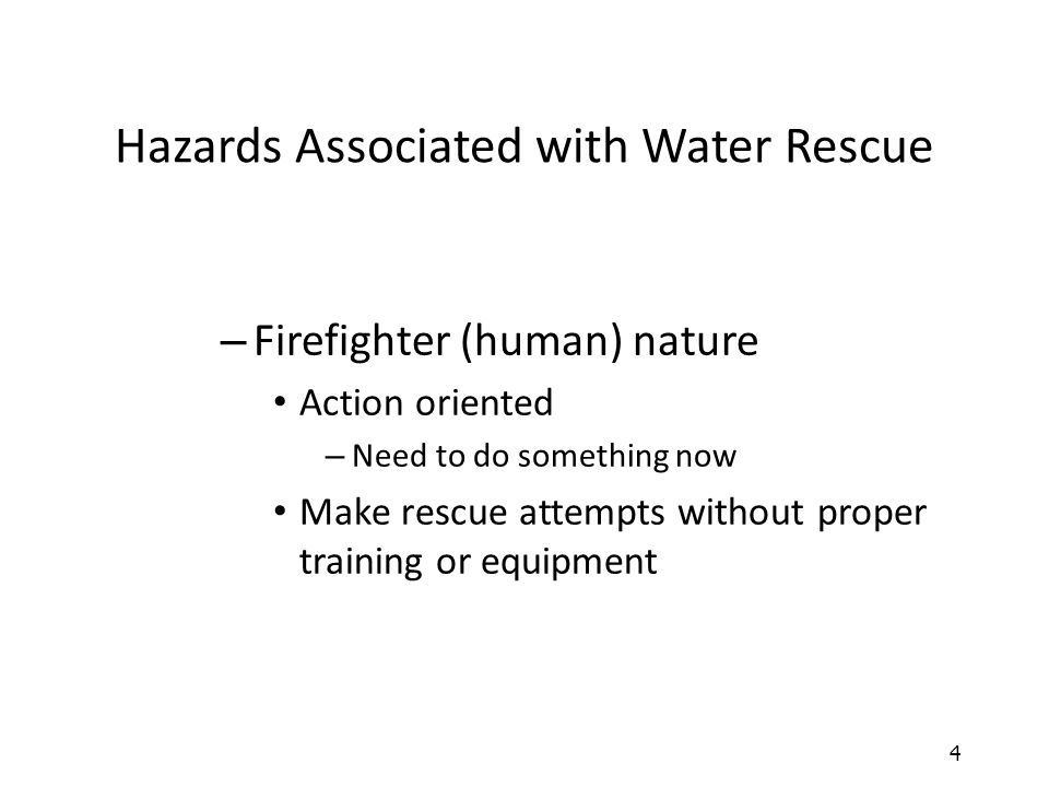 Hazards Associated with Water Rescue