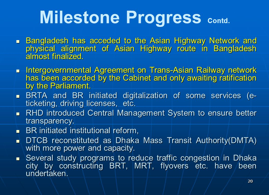 Milestone Progress Contd.
