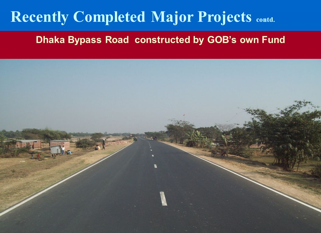 Dhaka Bypass Road constructed by GOB's own Fund