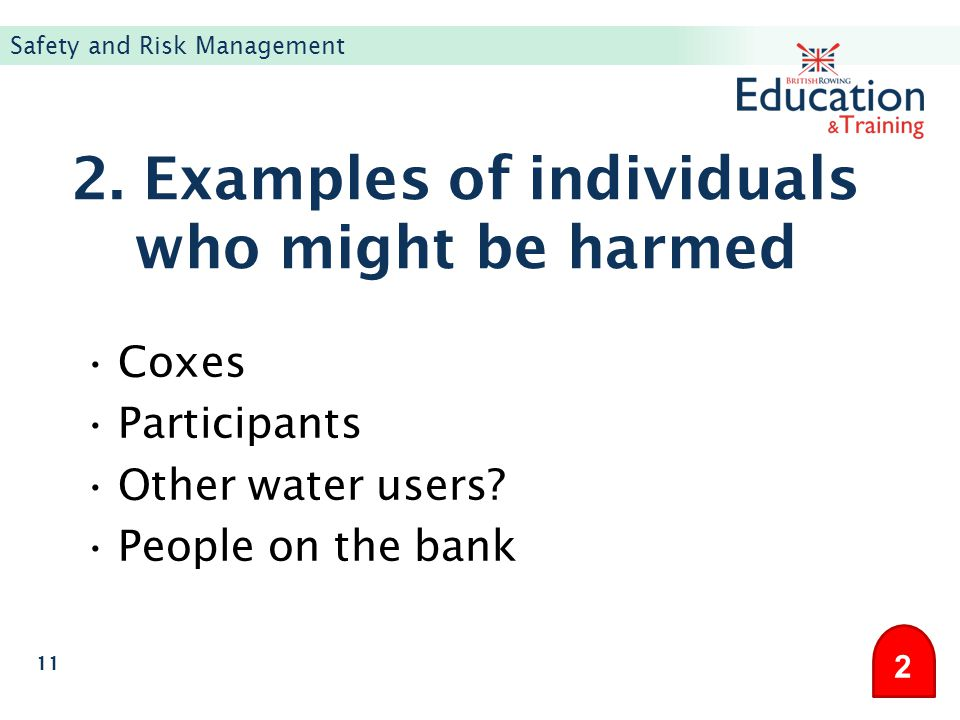 2. Examples of individuals who might be harmed