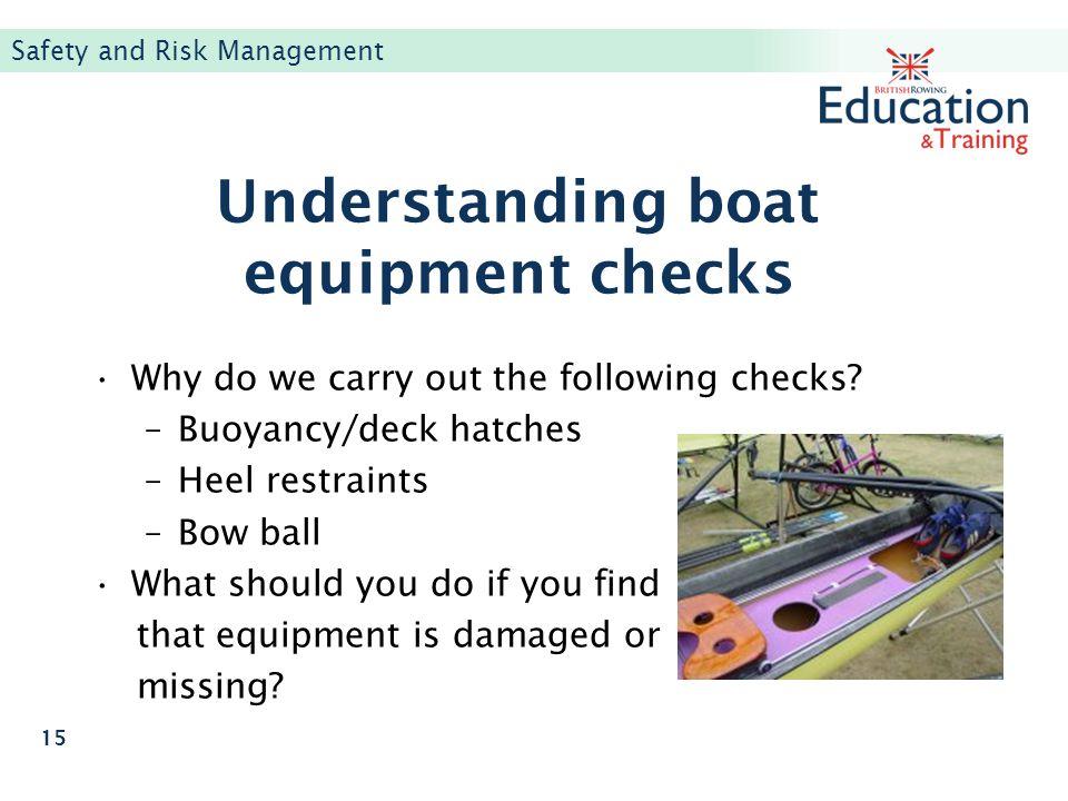 Understanding boat equipment checks