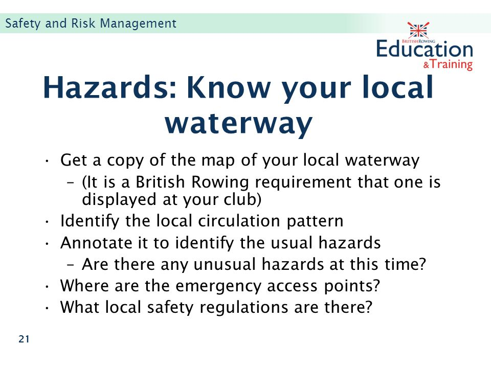 Hazards: Know your local waterway