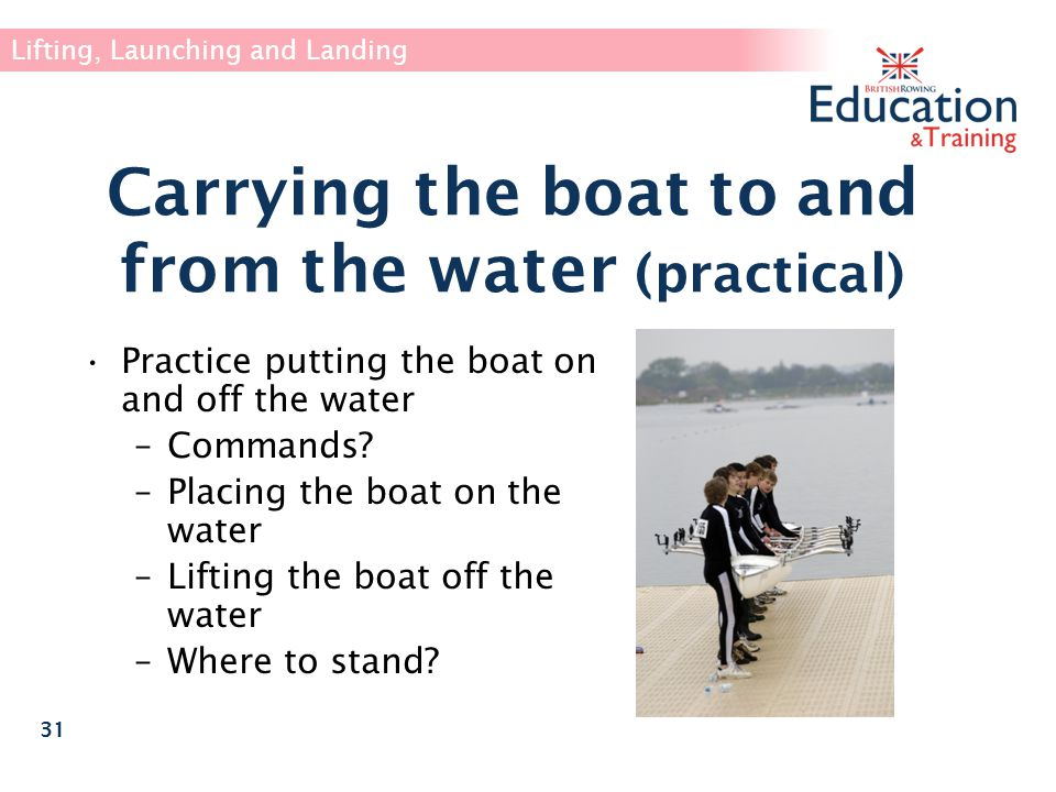Carrying the boat to and from the water (practical)