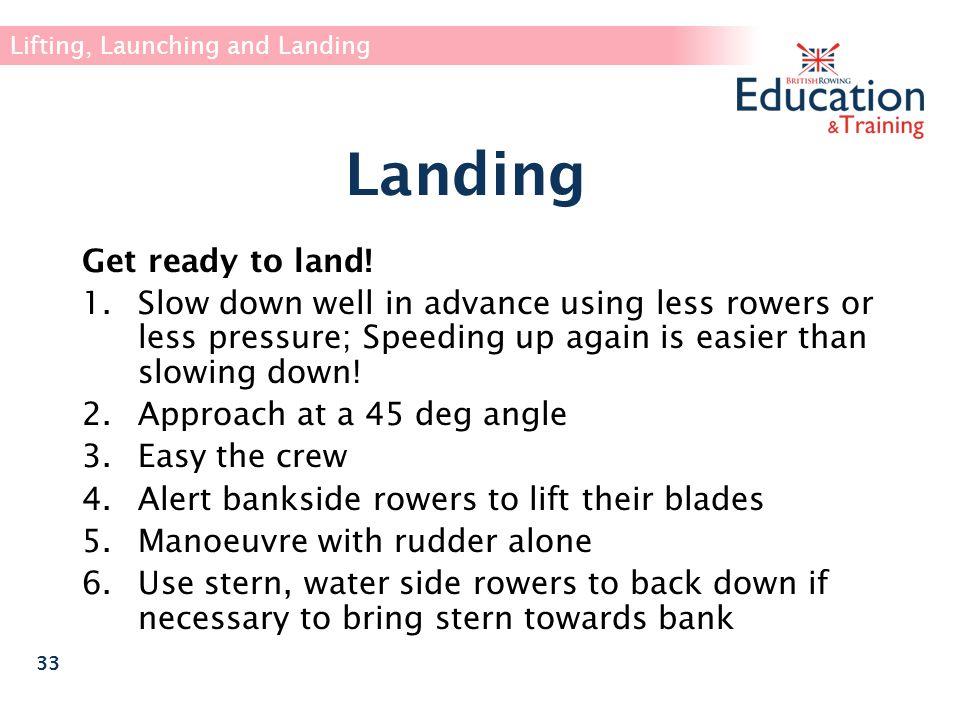 Landing Get ready to land!