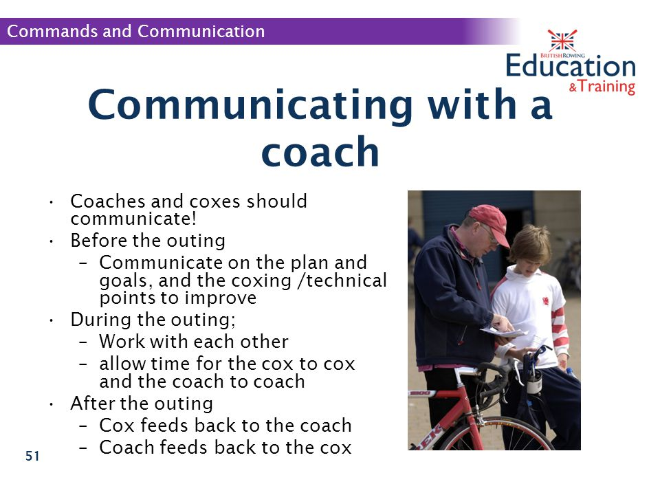 Communicating with a coach