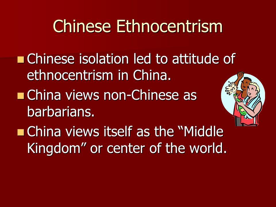 Chinese Ethnocentrism