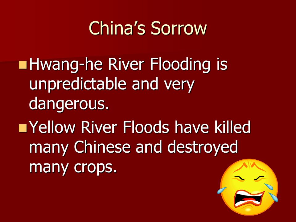 China's Sorrow Hwang-he River Flooding is unpredictable and very dangerous.