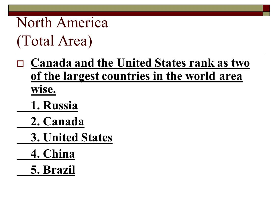 North America (Total Area)