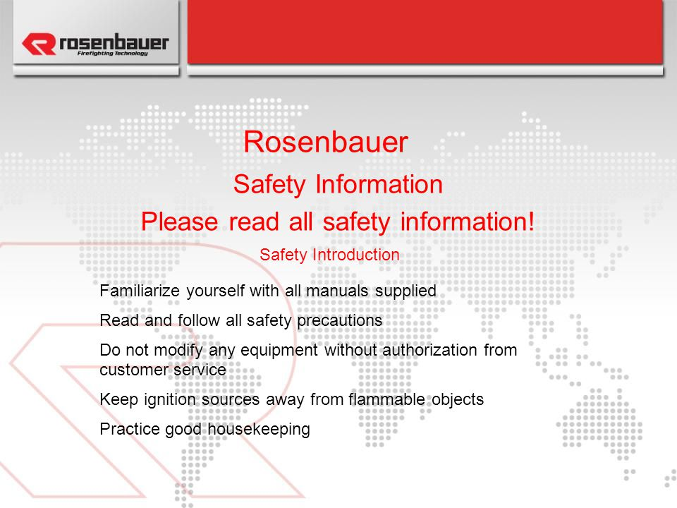 Please read all safety information!