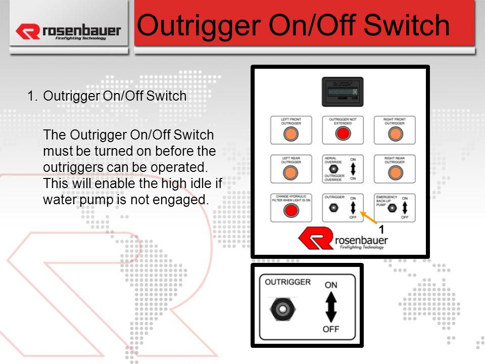 Outrigger On/Off Switch
