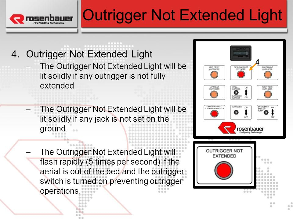 Outrigger Not Extended Light