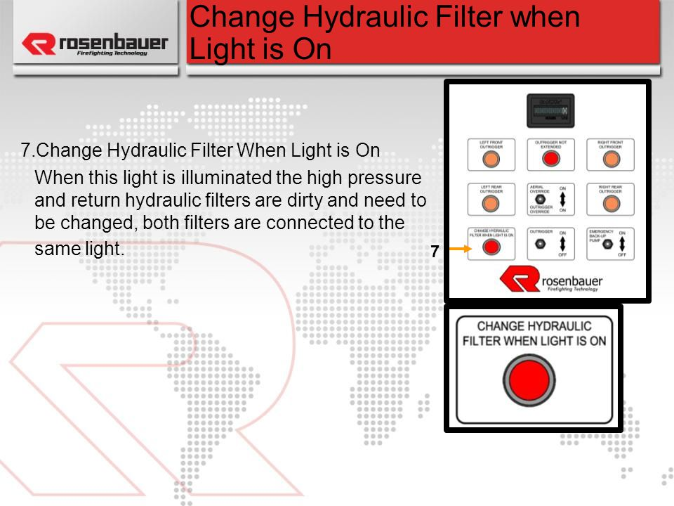Change Hydraulic Filter when Light is On