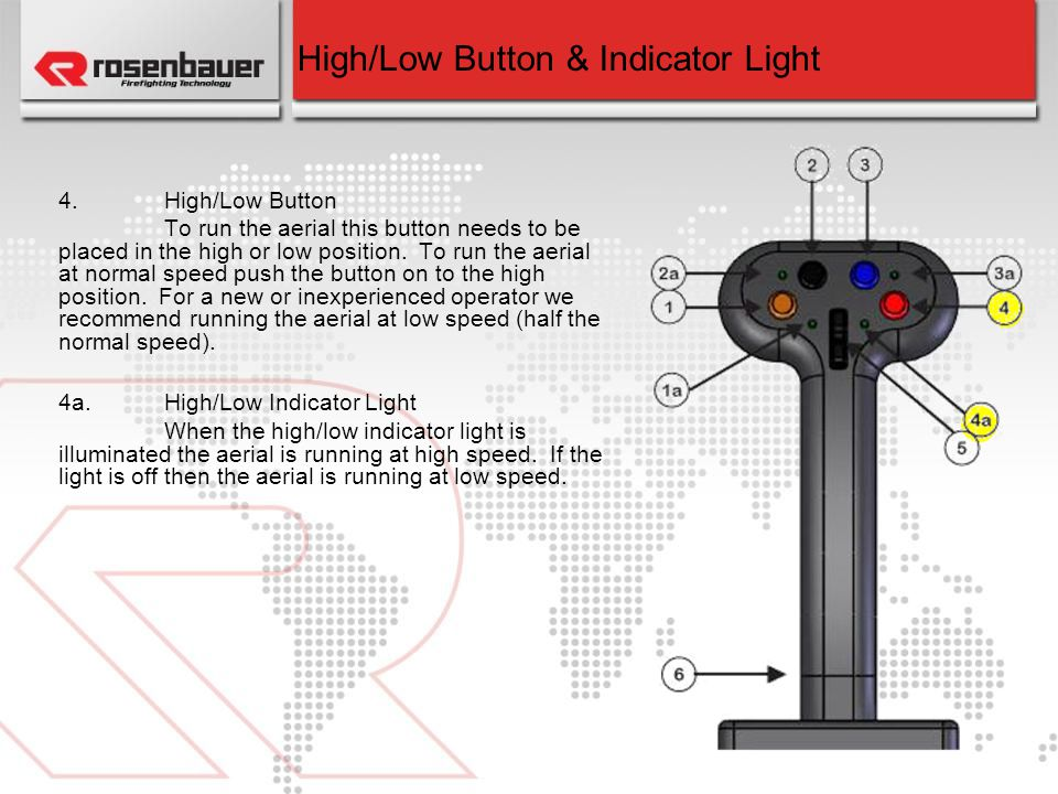 High/Low Button & Indicator Light