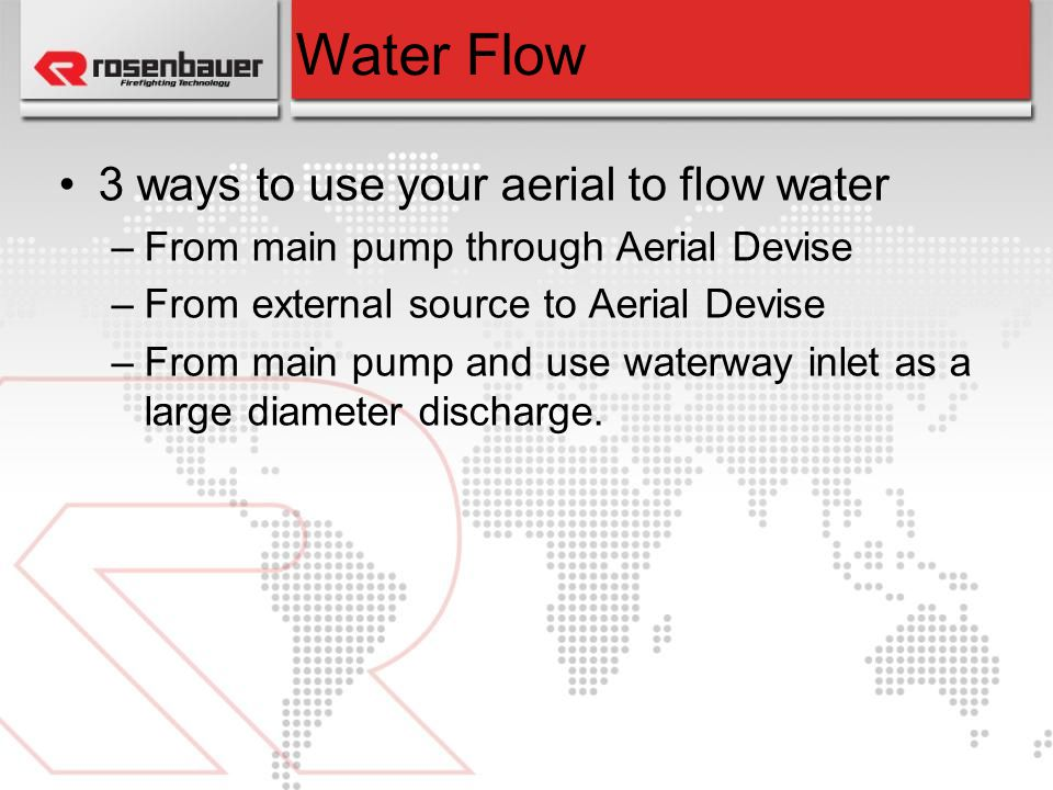 Water Flow 3 ways to use your aerial to flow water