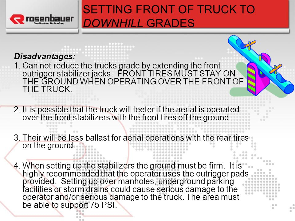 SETTING FRONT OF TRUCK TO DOWNHILL GRADES
