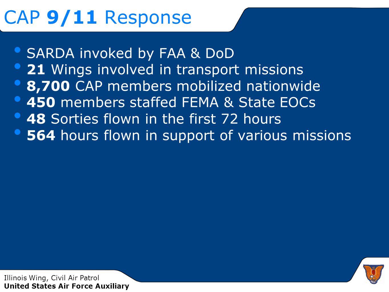 CAP 9/11 Response SARDA invoked by FAA & DoD
