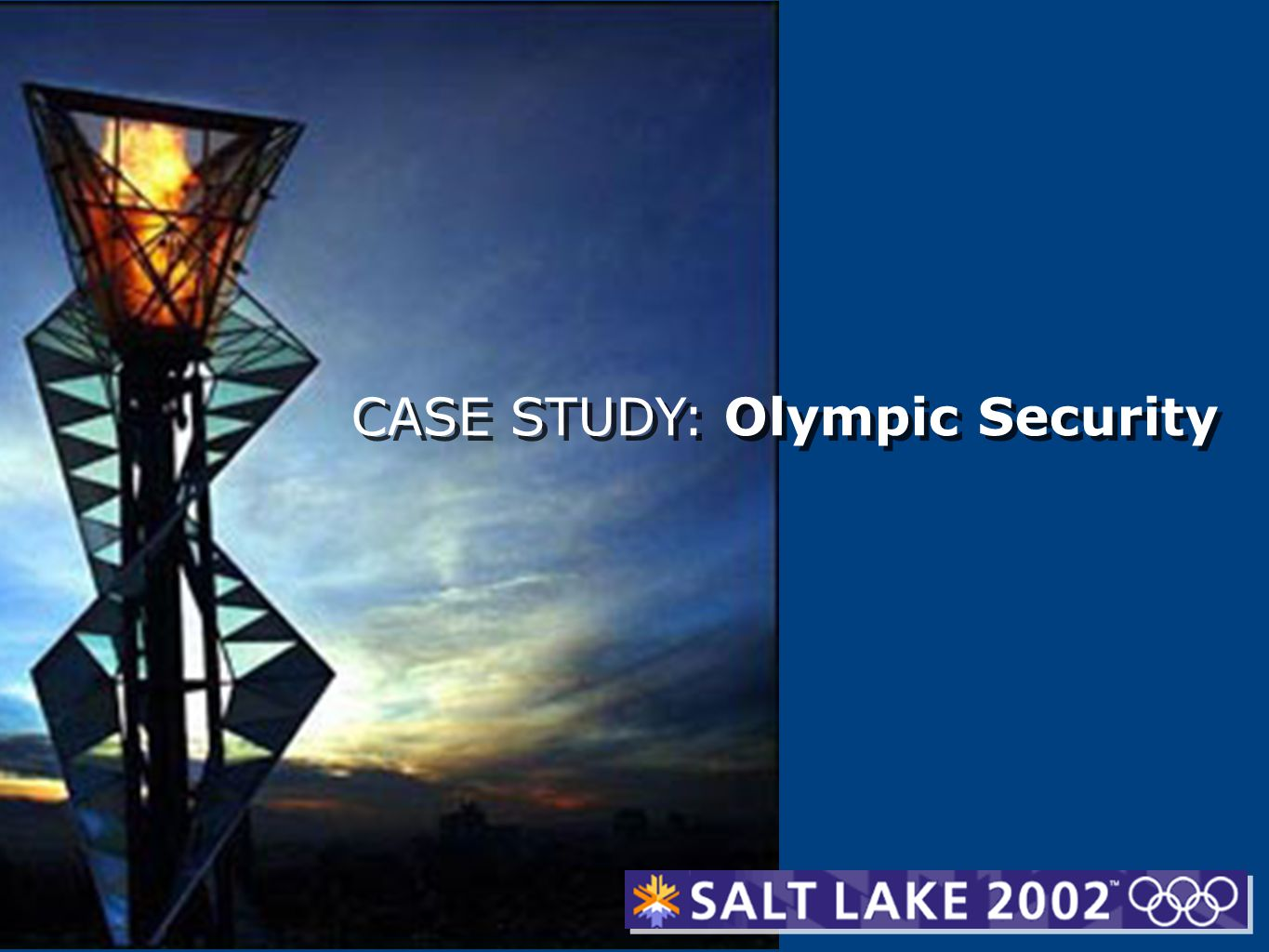 CASE STUDY: Olympic Security