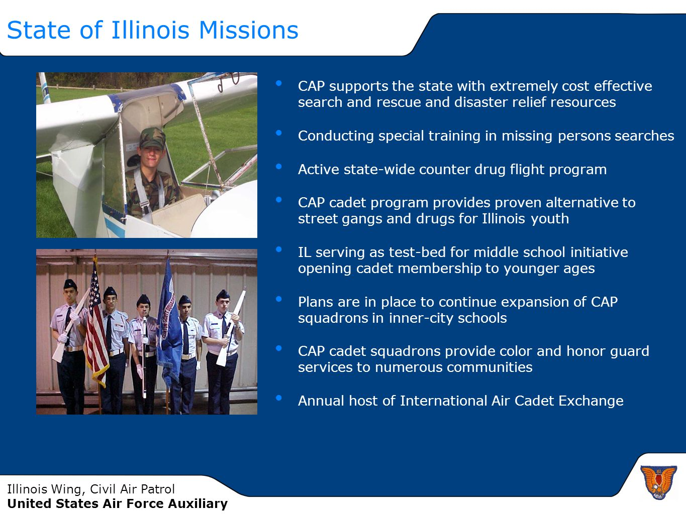 State of Illinois Missions