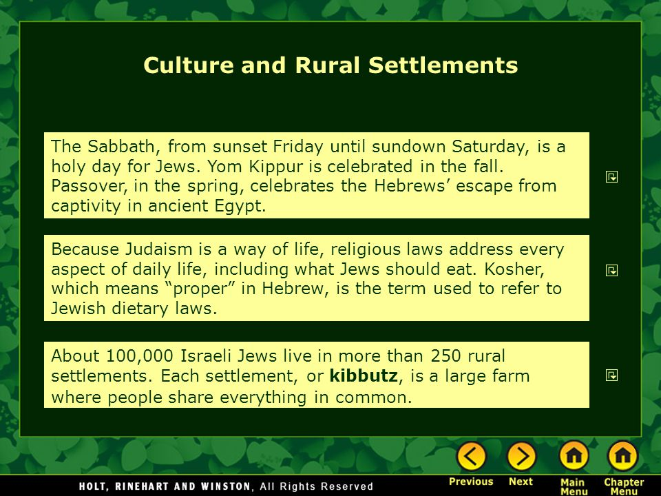 Culture and Rural Settlements