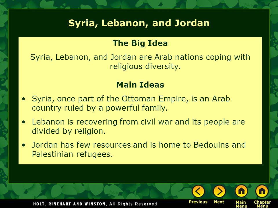 Syria, Lebanon, and Jordan