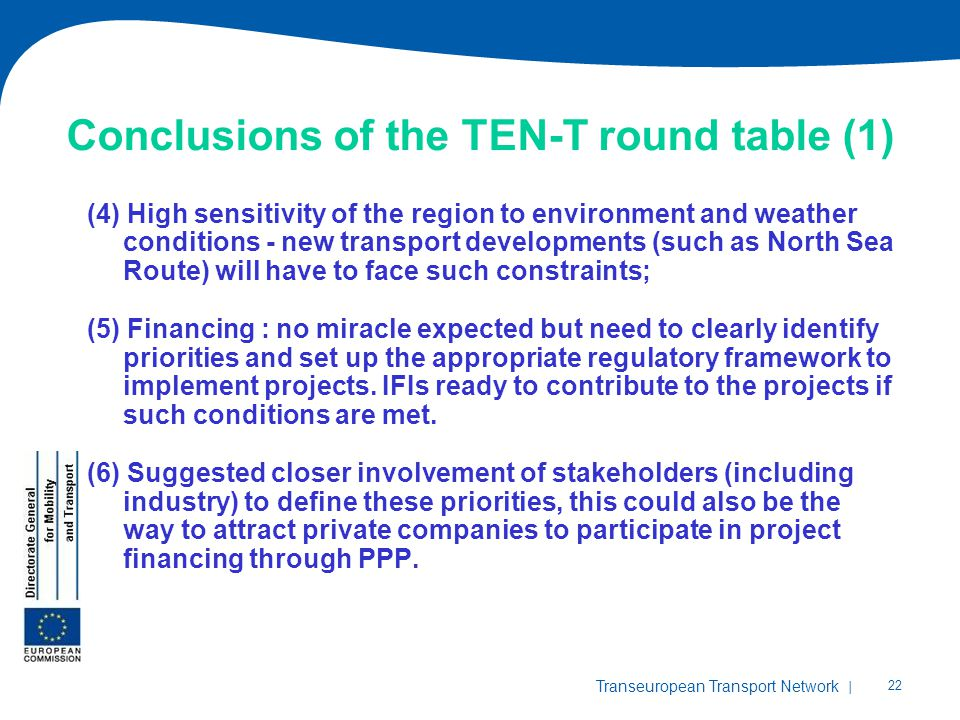 Conclusions of the TEN-T round table (1)