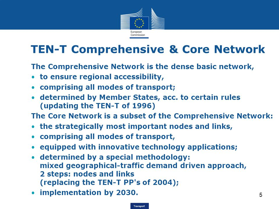 TEN-T Comprehensive & Core Network