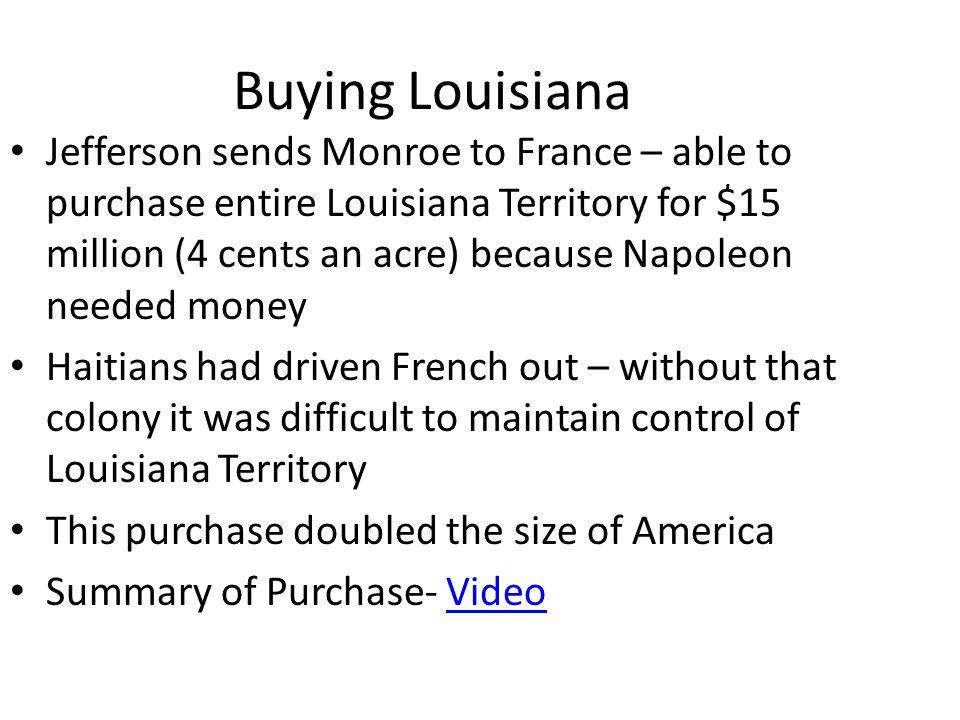 Buying Louisiana