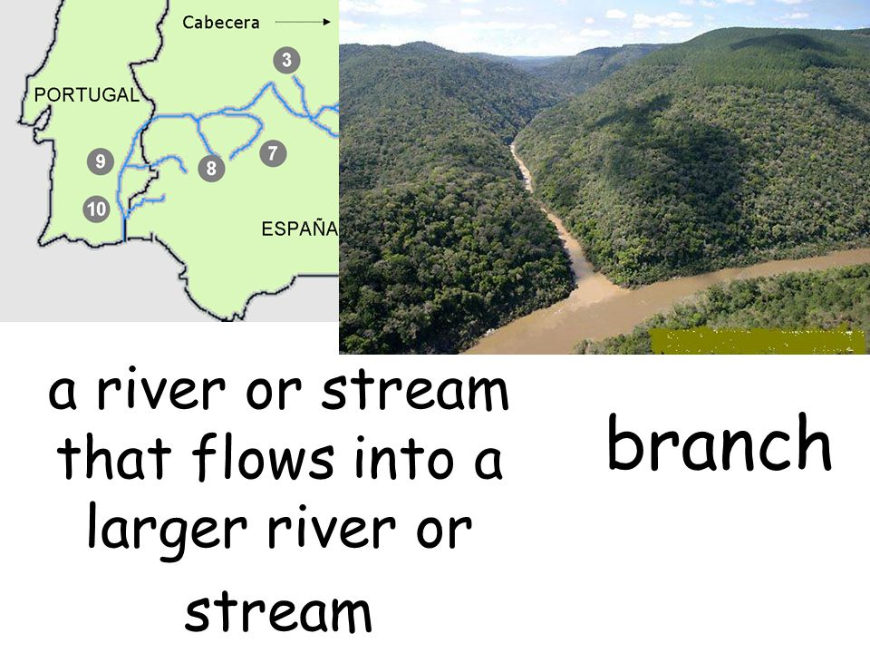 a river or stream that flows into a larger river or stream