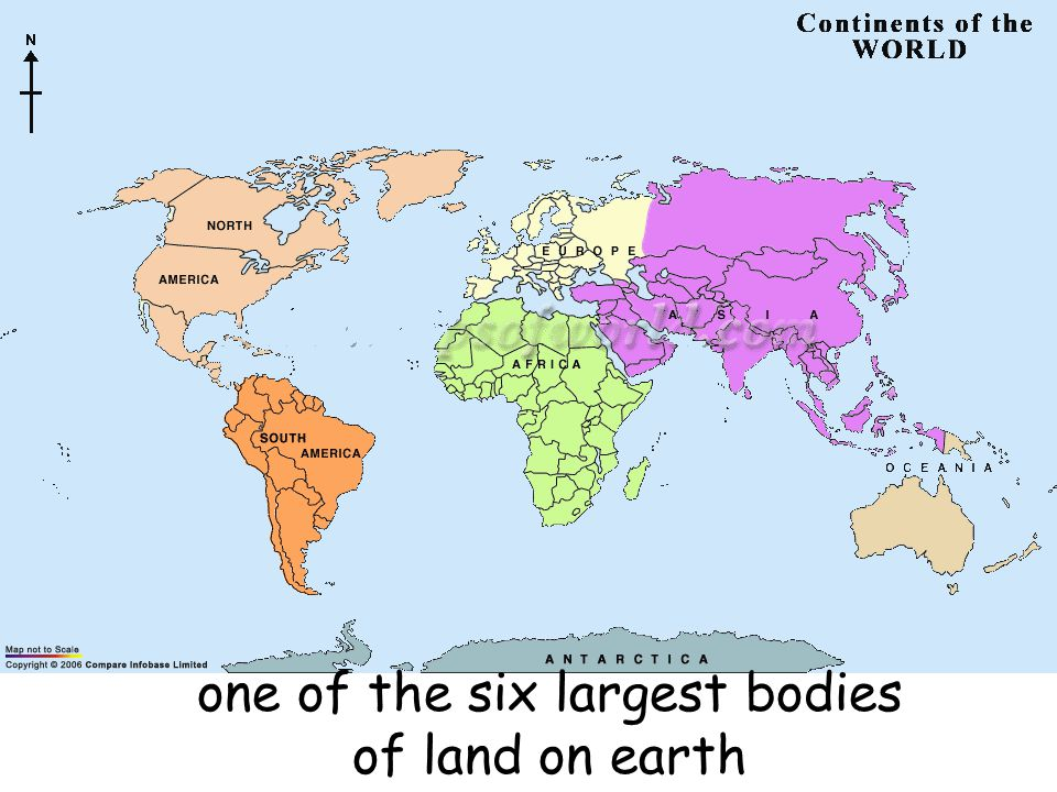 one of the six largest bodies of land on earth