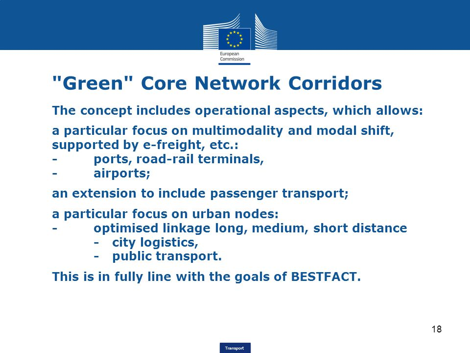 Green Core Network Corridors