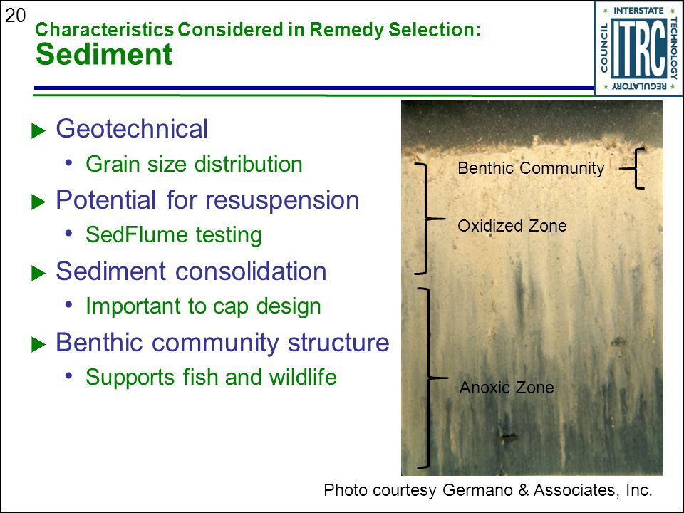 Characteristics Considered in Remedy Selection: Sediment