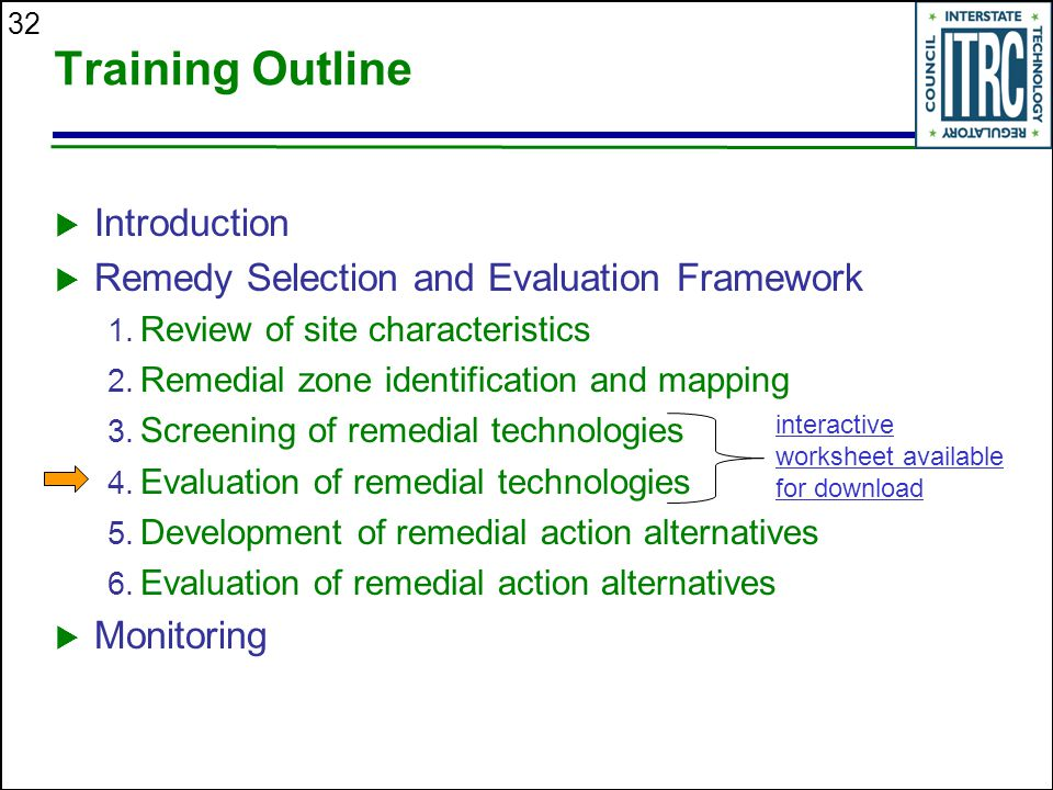 Training Outline Introduction