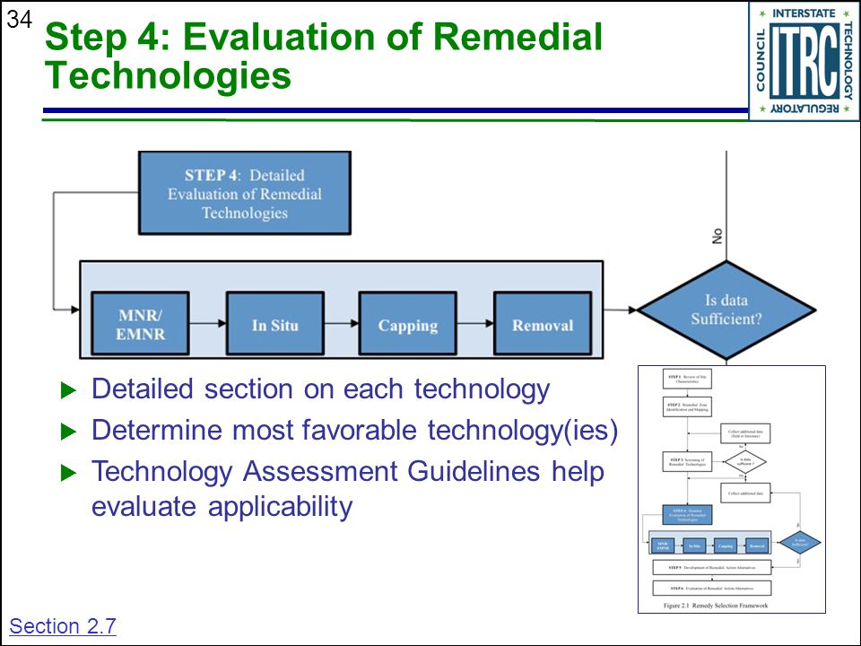 Step 4: Evaluation of Remedial Technologies