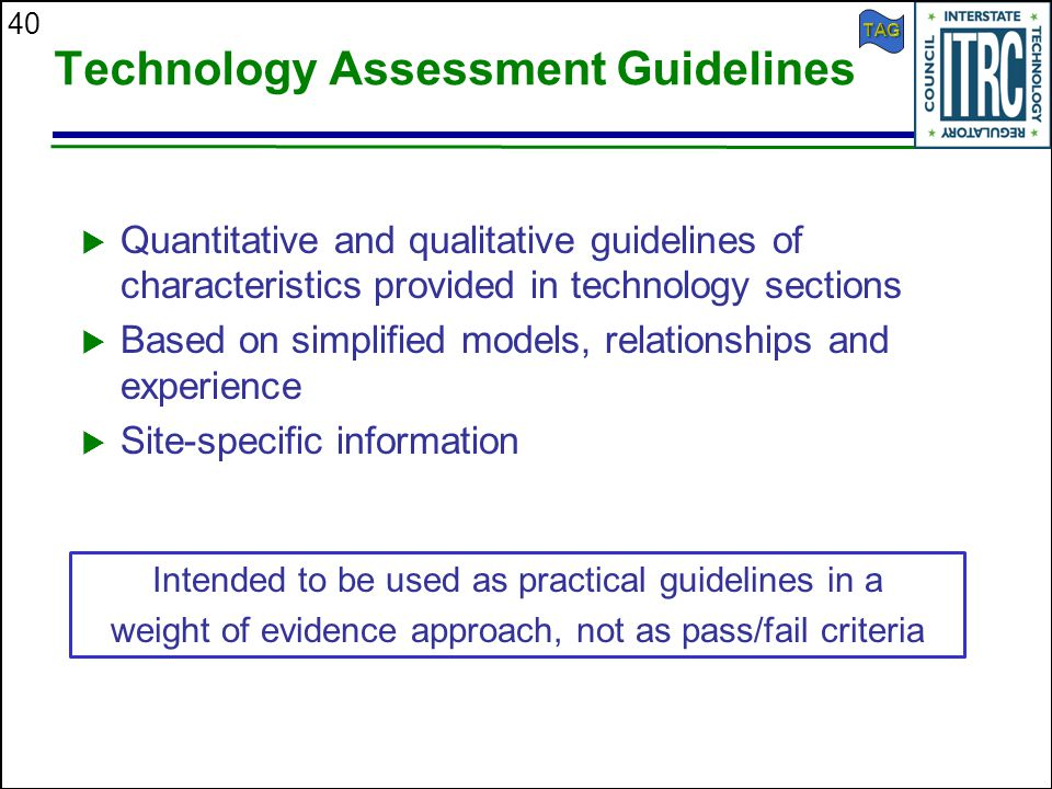 Technology Assessment Guidelines
