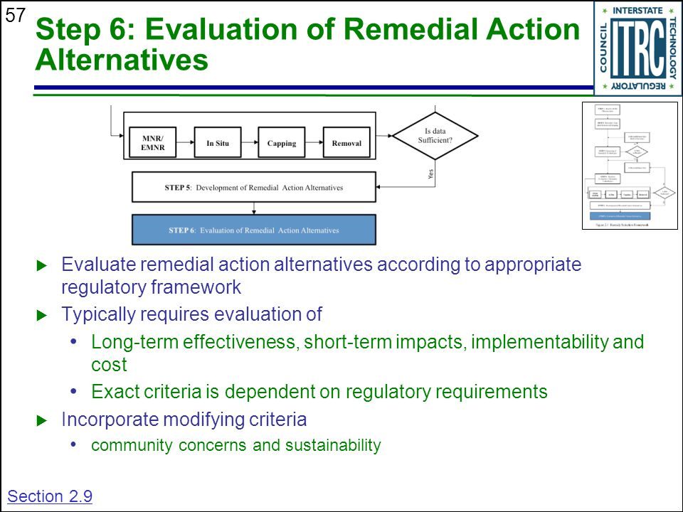 Step 6: Evaluation of Remedial Action Alternatives
