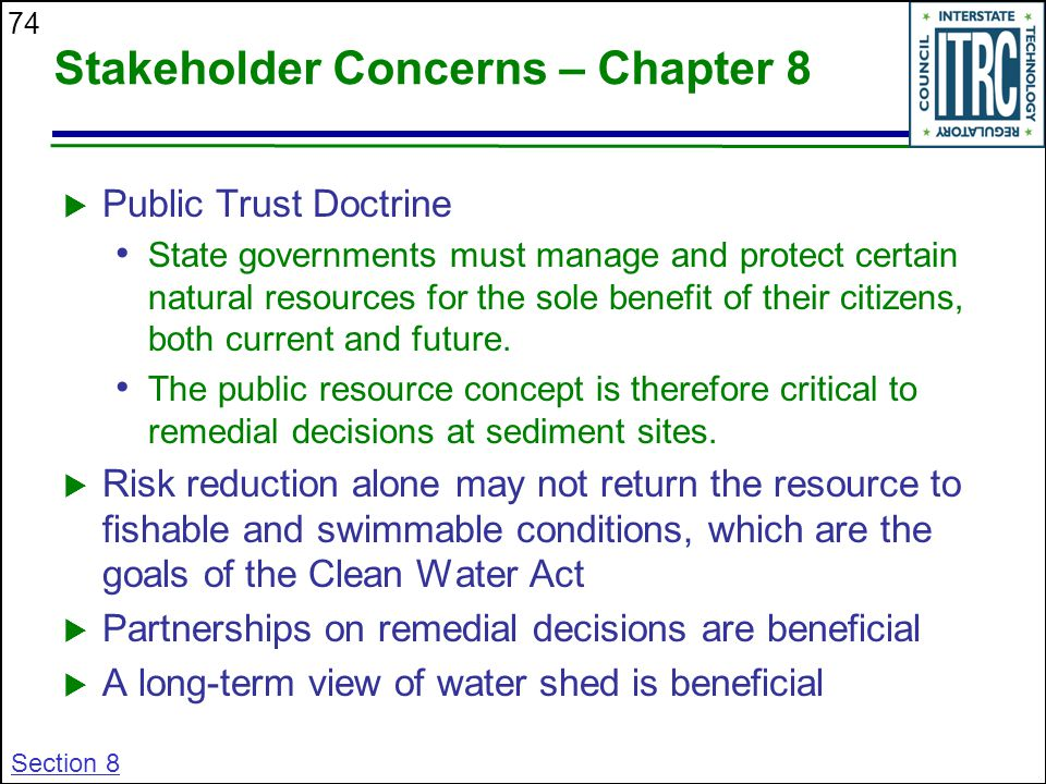 Stakeholder Concerns – Chapter 8