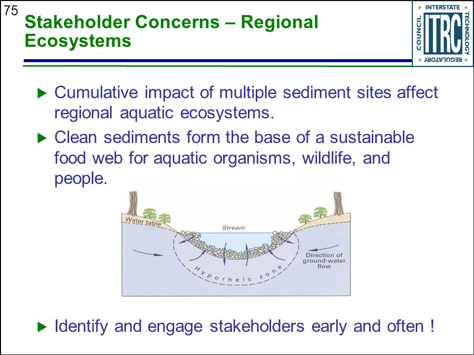 Stakeholder Concerns – Regional Ecosystems