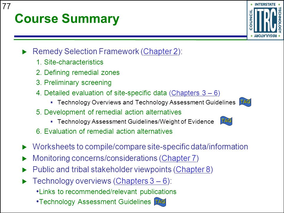 Course Summary Remedy Selection Framework (Chapter 2):