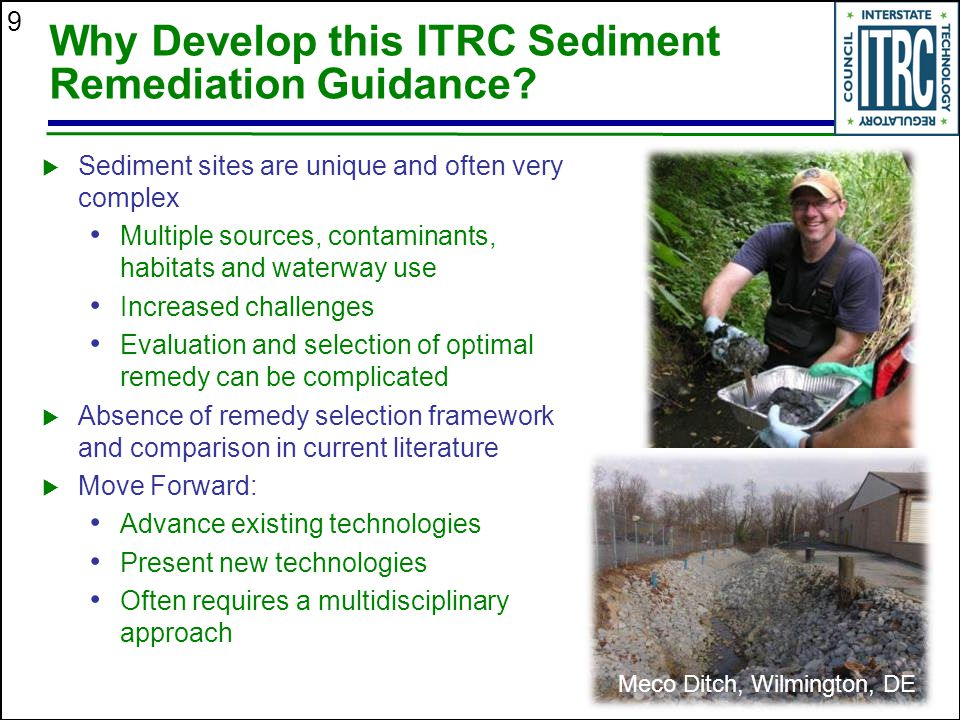 Why Develop this ITRC Sediment Remediation Guidance